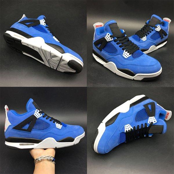 Nova Versão 4s Da Universidade da Flórida Azul NACC UF Homem Basquete Sapatos De Grife Incrível Camurça IV UNC Azul Céu 4s Formadores