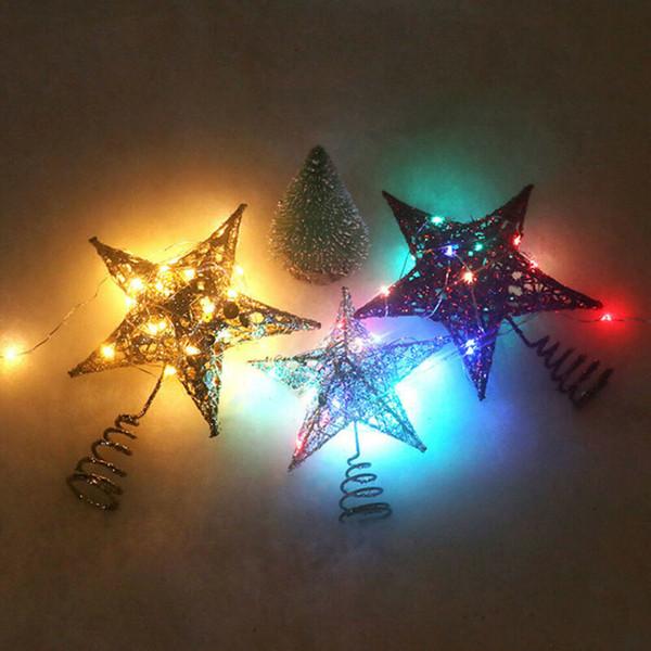 2020 Nouveau fête ou de célébration Etoiles Collection Décorations de Noël Babioles Etoiles Arbre Topper Décorations