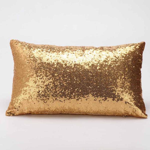Hot Sale Throw Pillowcase Sequin Sofa Car Bed Home Decoration Festival Pillow Cotton Cushion 30cm*50cm For Livingroom
