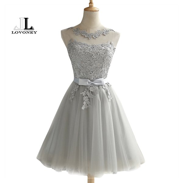 Lovoney Ch604 Short Sexy Backless Lace Up Prom Gown Formal Dress Women Occasion Party Dresses Robe De Soiree Q190521