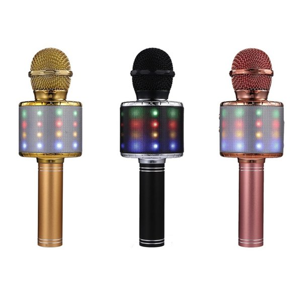 4 in 1 Portable Wireless Karaoke Microphone for Bluetooth Mic Speaker Player Selfie Function for iPhone Android