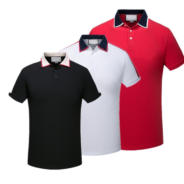 top popular 2019 Luxury Europe Paris patchwork men Tshirt Fashion Mens Designer T Shirt Casual Men Clothes medusa Cotton Tee luxury polo 2019