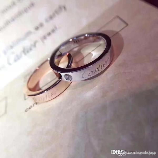 Joyas para mujer anillos amor anillo de diamante marca de carro de lujo bague dame anello di lusso donna Anel de senhora caja original