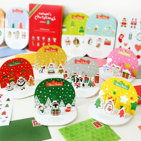 2019 Christmas Cards Set Cute Cartoon Handmade 3d Card With Envelopes Greeting Card For Friends Family Members From Raymonu 43 13 Dhgate Com