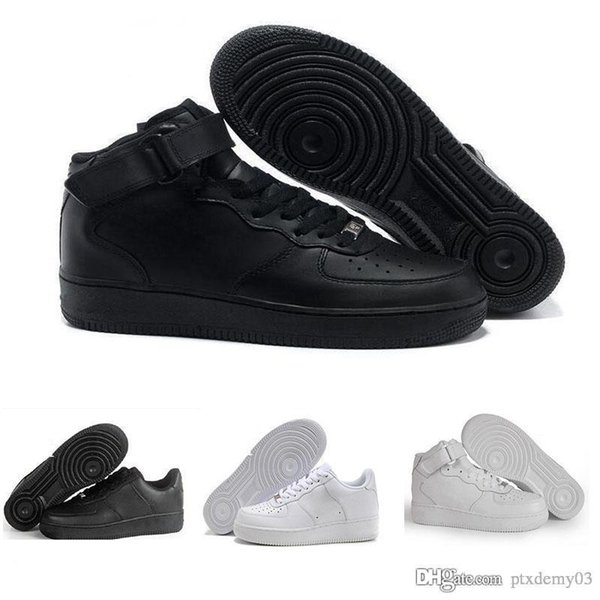 Compre NIKE Air Force 1 Leather AF1 2019 Nuevas Zapatillas De Deporte Para Hombre Fores ID Air Para Mujer Zapatillas De Deporte Low Cut One 1 Dunk
