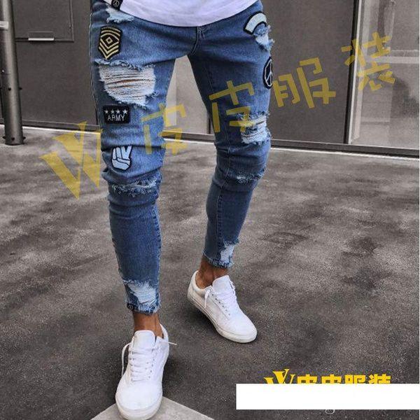 Designer nuovi jeans da uomo nuovi pantaloni alla caviglia alla caviglia da uomo pantaloni in denim esplosioni europee pantaloni slim
