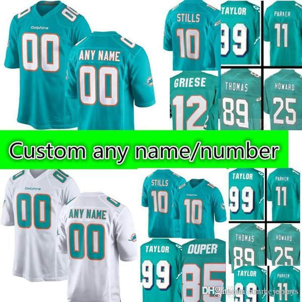 online retailer 5f58d f8c83 2018 Men'S Miami Dolphins Custom Jersey #20 Reshad Jones 10 Kenny Stills 89  Thomas 25 Howard 11 DeVante Parker Stitched Jerseys From Heysports, $41.6  ...