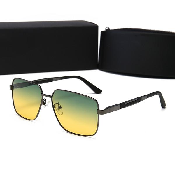 Lunettes de soleil design Lunettes de soleil de luxe Designer en verre pour hommes Lunettes UV400 avec boîte Haute Qualité Marque P 4 Couleurs 2019 Nouveau