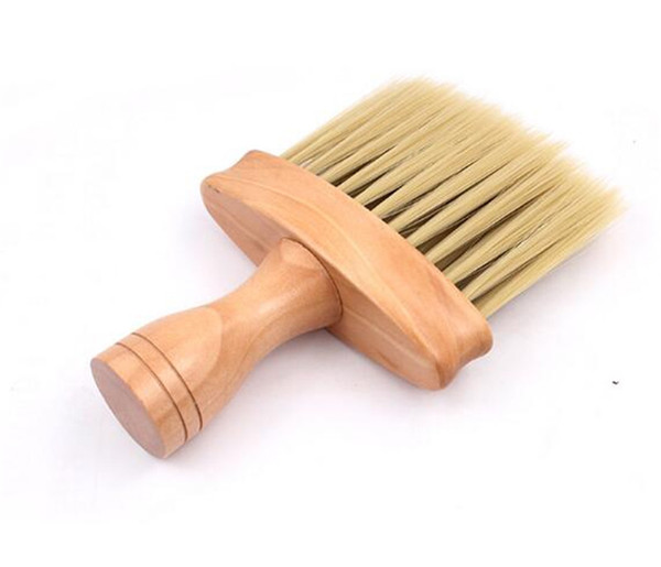Beauty neck face du ter bru h alon hair cleaning wooden weep bru h hair cut hairdre ing hair cleaner hairbru h weep comb tool