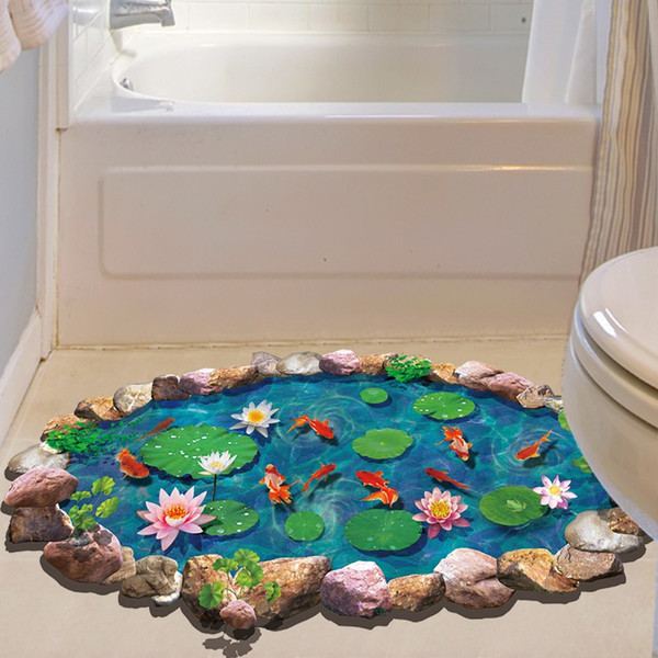 Autoadesivo del pavimento della spiaggia del mare 3D Simulazione Decalcomanie della decorazione della casa della spiaggia per la decorazione Adesivo della parete del contesto del salone della camera da letto del bagno