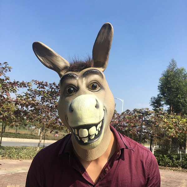 Logy Funny Donkey Latex Mask Mr Silly Donkey Mask Halloween Cosplay Costume Prop traspirante per feste