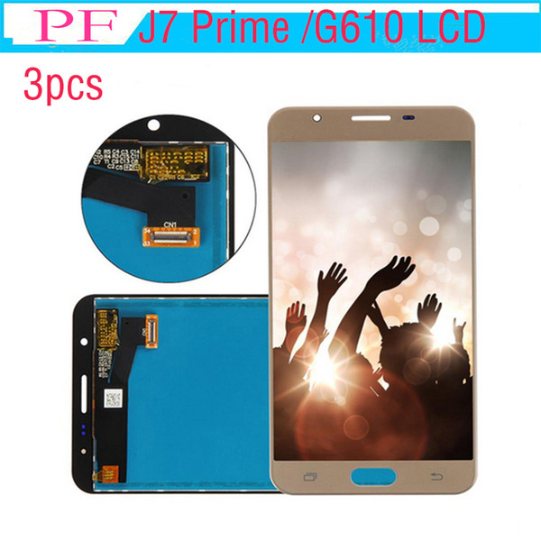 3pcs lcd For Samsung Galaxy J7 Prime G610 LCD Screen Display Digitizer with Touch Screen Assembly G610F G610K G610L G610S G610Y