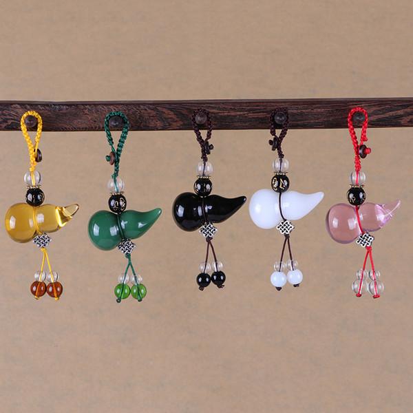 Car Styling Gourd Voiture Pendentif Porte-clés Femme Sac Pendentif Porte-clés Cristal Porte-clés Décoration Intérieure