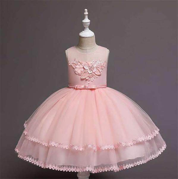 2019 summer European and American children's clothing new children's vest princess dress cotton girls evening dress dress