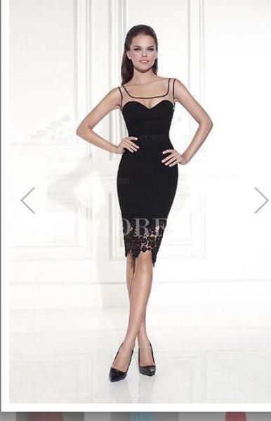 Sheath/Column Square Knee-length Jersey Prom Dresse10