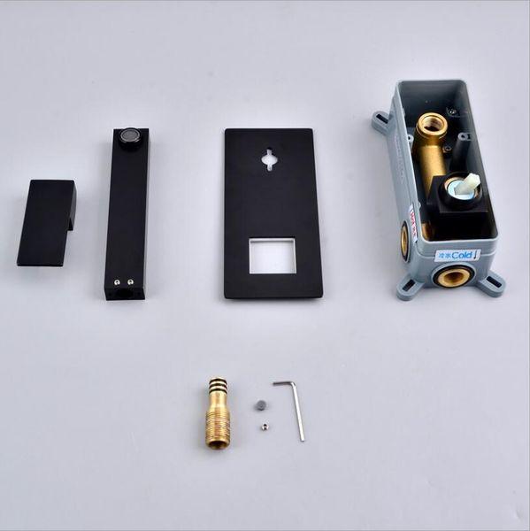 черный цвет с коробкой размещения