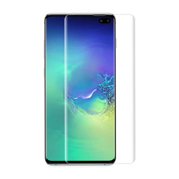 Para Samsung Galaxy S10 Plus S10E Protector de pantalla suave TPU Sensor de huellas dactilares Pantalla de cubierta completa compatible