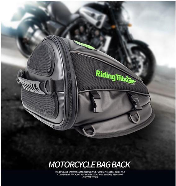 best selling Motorcycle bag back fuel tank rear seat rider bag side motorcycle brigade ultrafine leather multifunctional bag