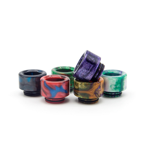 810 Epoxy Resin Drip Tip Colorful 6 Types Resin Wide Bore Mouthpiece for TFV8 TFV12 Atomizers Tank ecigarette