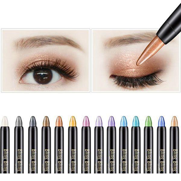 Best Wholesale Cheap Price Highlighter Eyeshadow Pen Cosmetic Beauty Glitter EyeLiner Shadow Pencil Long Lasting Waterproof Luminous Makeup