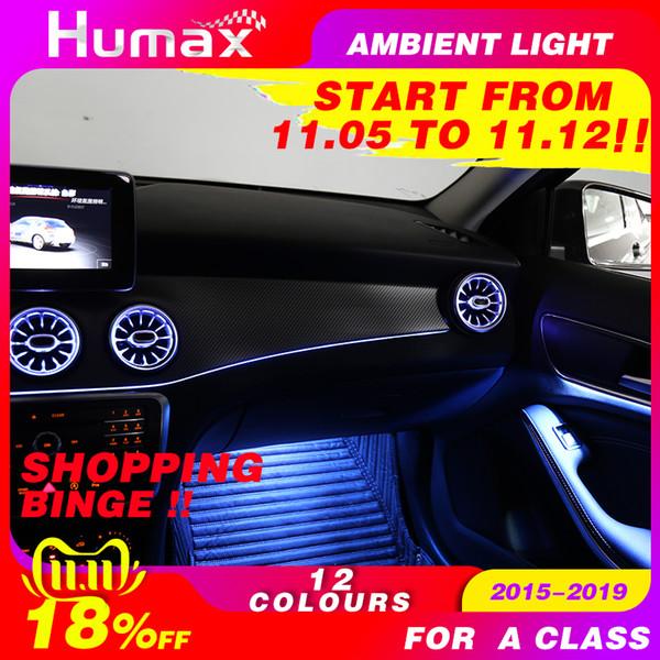 12 colores de luz ambiental LED para la clase A W176 A200 A300 lámpara ambiente iluminado Styling coche