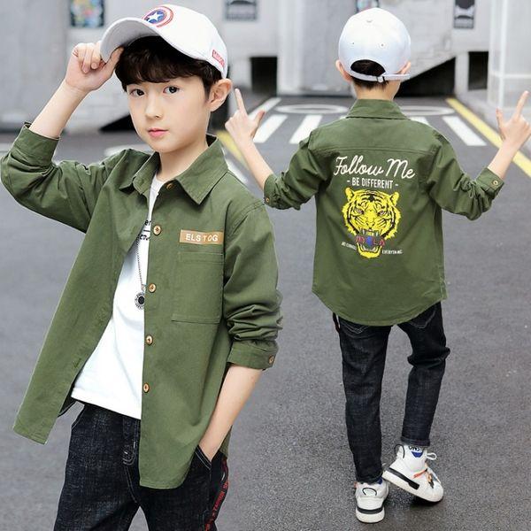 camisa verde con cabeza de tigre