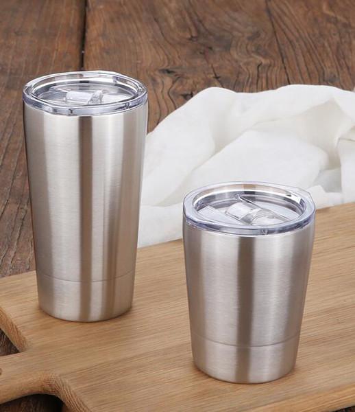 2019-Новый 304 нержавеющей стали двухслойная чашка кофе творческий стакан воды изоляция против ожогов предметы домашнего обихода пивная кружка 3 цвета