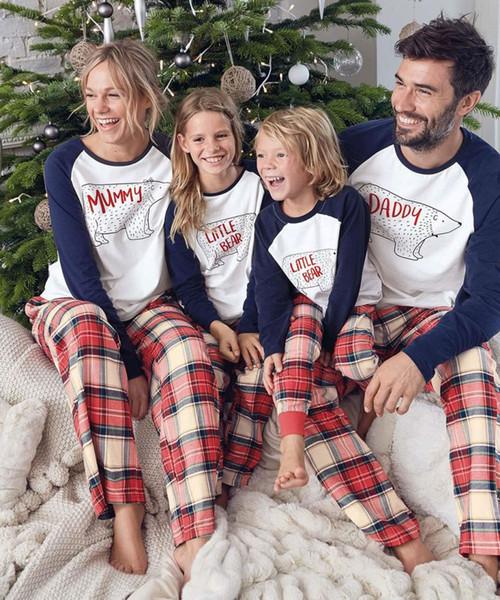 Familia Navidad Ropa de dormir Ropa a juego para la madre Hija Padre Hijo Mamá Bebé Año nuevo Family Look Pijamas