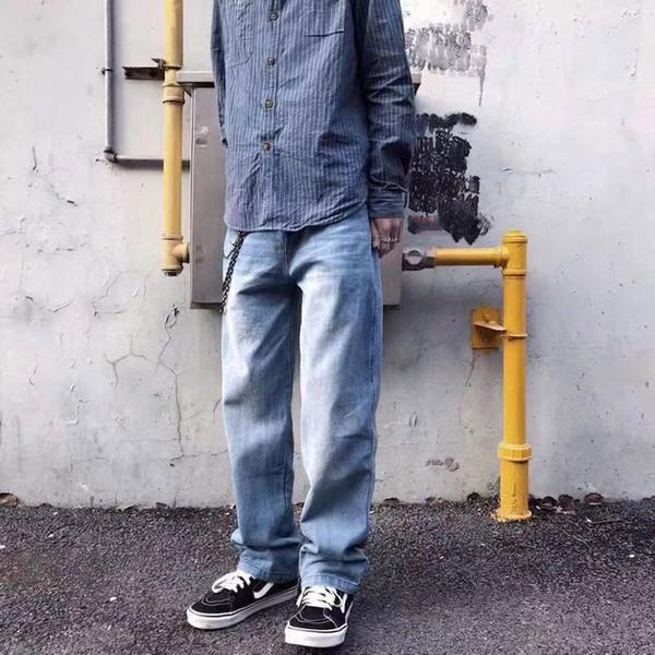 Moda marca jeans para hombre diseñador de lujo de alta calidad Hole pantalones letra clásica logotipo de impresión tendencia jeans Jeans con marca Pantalones sueltos