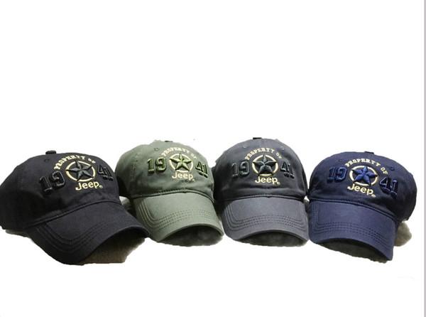 Armee Grün Jeep Hut Kappe Frauen Männer Baseball Golf Ball Sport Kappe Top Qualität Neue 1941 JEEP Stickerei Hut