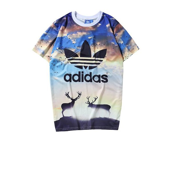 Summer Designer T Shirts For Mens T-shirts With AD Letters Animal Printted New Fashion Mens T-shirts Clothing Short Sleeve S-2XL Wholesale