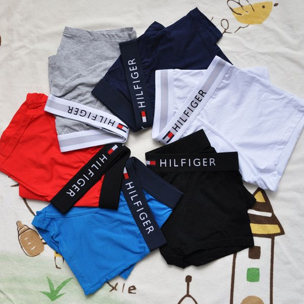2019 ropa interior para hombre boxeadores letra Sexy algodón suave calzoncillos ropa interior deportiva para hombres niños 6 color 4 tamaño envío gratis