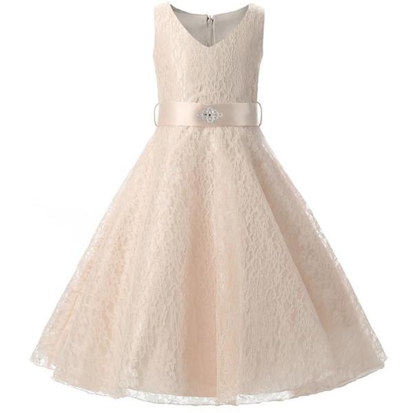 Traje de princesa Vestidos de niños para niñas Adolescentes Niños Fiesta de flores Vestido de novia Vestido de novia para niña Ropa 6 10 años