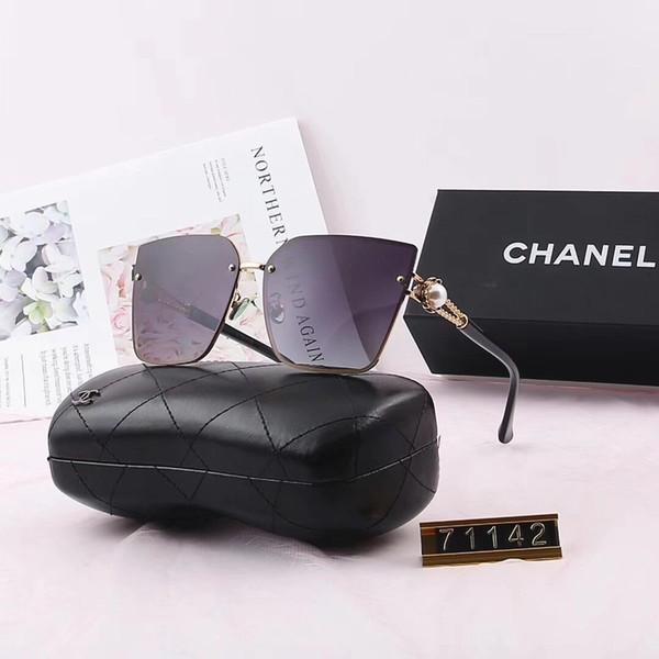 Pearl Womens Designer Sunglasses Lunettes De Soleil De Luxe Marque Adumbral Polorized Lunettes De Lunettes UV400 Style 71142 6 Couleurs Haute Qualité avec Boîte