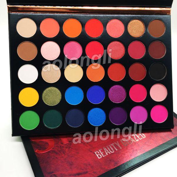 Yeni Güzellik Sırlı Göz Farı Paleti 35 Renk Göz farı pırıltılı mat makyaj göz farı Renk Stüdyo paleti Marka Kozmetik ücretsiz kargo