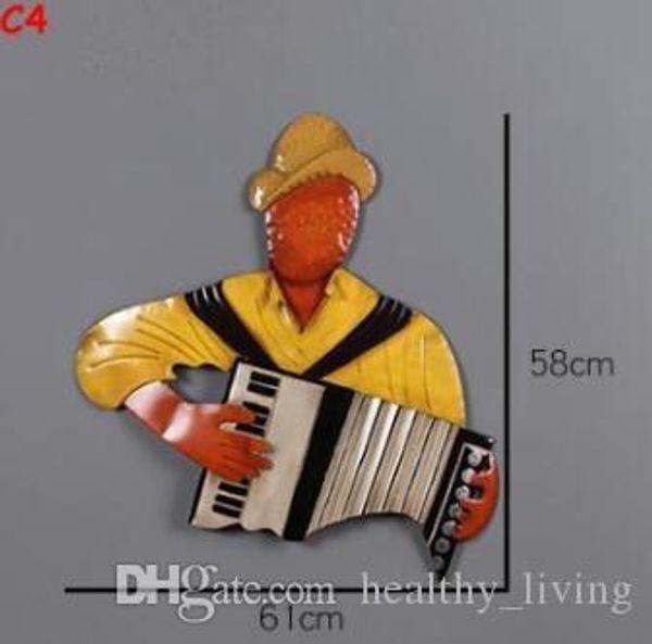 2019 Musique Homme Mur Art Vintage En Métal Tin Figure Signes Pour Mur Décor Fer Peintures En Métal Signes Plaque Pub Bar Garage KTV Décoration de La Maison