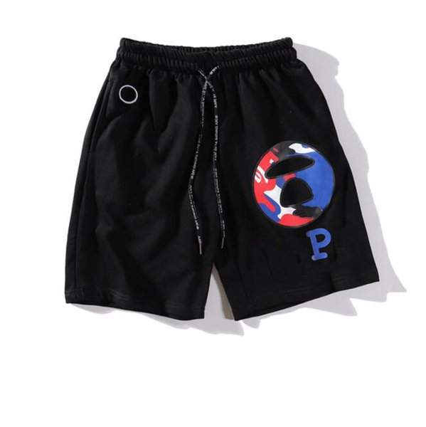 2019 New Designer Men Shorts with Patterns Letters Flat Sport Brand Beach Shorts Elastic Waist Fashion Casual Short Pants for Mens Clothing