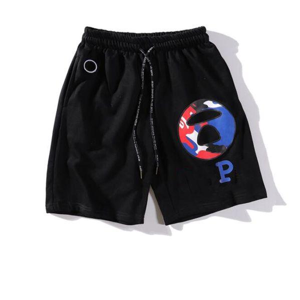 2019 Novo Designer Homens Shorts com Padrões de Letras Esporte Plana Marca Praia Shorts Cintura Elástica Moda Casual Calças Curtas para Mens Roupas