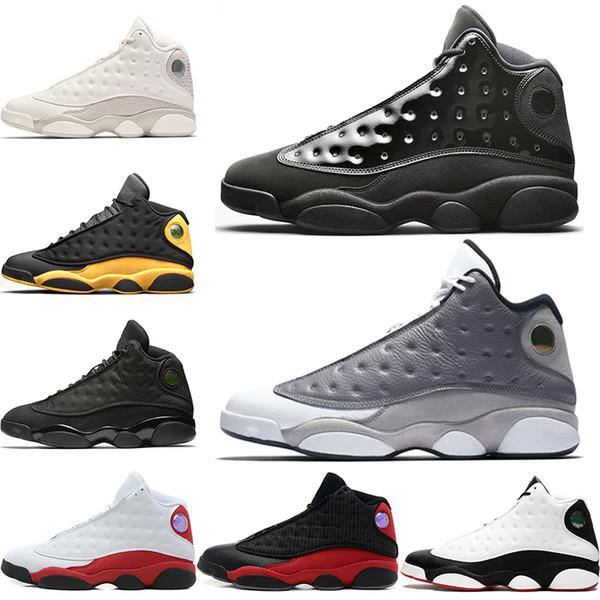 Nike Air Jordan 13 13 s Erkekler Basketbol Ayakkabı 13 Kap Ve Kıyafeti Atmosfer Gri O Oyunu Vardı Siyah Kedi Fantom Tasarımcı Spor Eğitmeni Sneakers Bred Boyutu 8-13