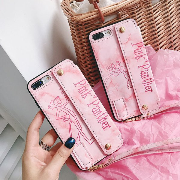 Fundas de teléfono ultradelgadas para iPhone 6S 7 8 Plus XS Funda de cuero de piel suave Funda de silicona TPU suave para iPhone XR X Shell con pulsera