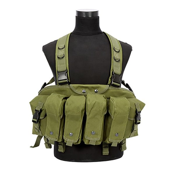 Outdoor Hunting Camouflage War Game Tactical Vest Chest Rig Combat Clothing Green Color Hunting Vest