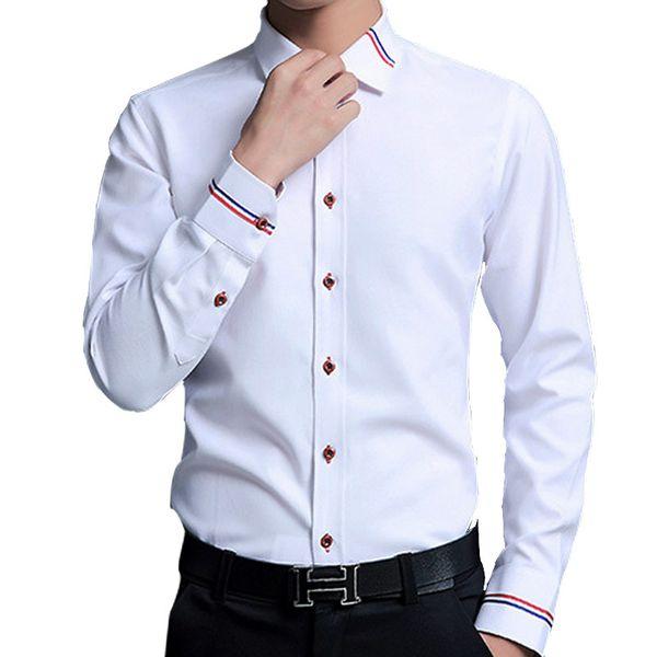 Fashion Oxford Dress Shirt Men 5XL Business Casual Mens Long Sleeve Shirts Office Slim Fit Formal Camisa White Blue Pink Brand Fashion