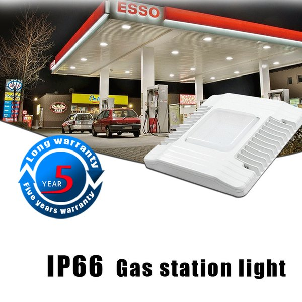 2019 Super Brilhante 60 W 100 W 150 W levou dossel luzes Gasolina estação de iluminação de iluminação ao ar livre levou holofotes ac 100-277 v
