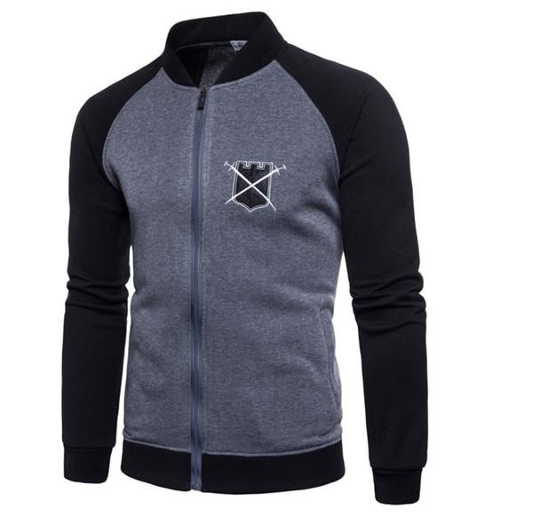 2019 Sıcak satış yeni Ceket erkekler Serin Koleji Beyzbol Ceket Erkekler Bahar Tasarım Siyah Kollu Erkekler Ince Harajuku Rahat Jacket240
