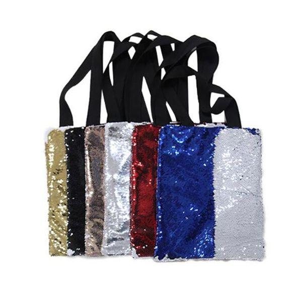 Fashion Mermaid Purse bolso bolso cosmético colorido lentejuelas Lápiz bolsa Mujeres Niñas Bolsas de maquillaje 10 pcs