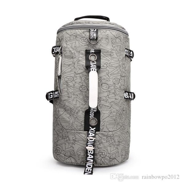 wholesale brand male bag, outdoor travel mountaineering bag, simple Canvas Backpack, leisure quality printing canvas cylinder, men Backpack