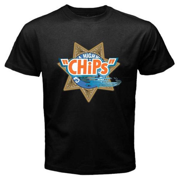 Nouveau Chips Film Rétro Film Show Logo Highway Patrol Black Shirt Usa Taille S-3XL Af1