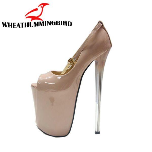 19 CM.16 CM.22 CM BÜYÜK BOYUTU 34-43 Bayanlar Ince Topuklu Pompalar Platformu Seksi Burnu açık Yüksek Topuklu Ayakkabılar Kadın Düğün Parti Ayakkabı MC-71