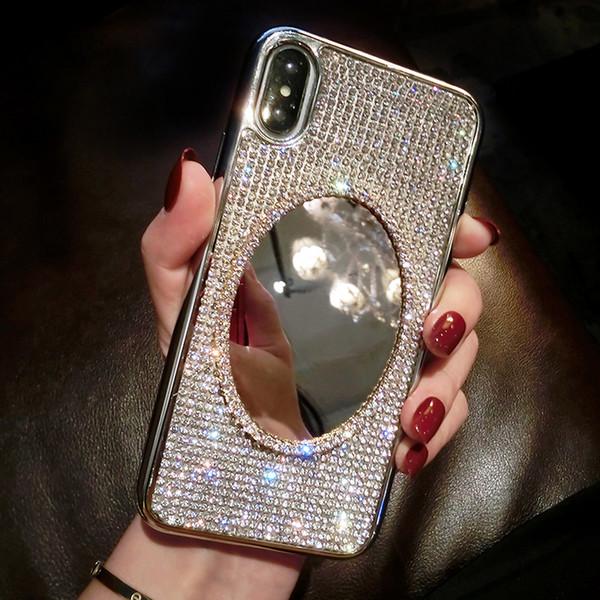 Estuche para teléfono 19ss Fashion Designer para IPhoneX / XS XR XSMAX IPhone7 / 8plus IPhone7 / 8 6 / 6s 6 / 6sP Estuche tipo espejo de moda Funda protectora de silicona