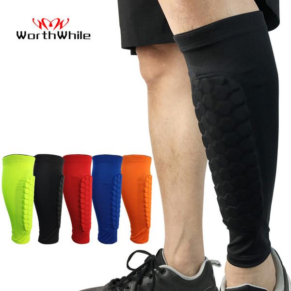 heap Shin Guard WorthWhile 1 PC Honeycomb Shin Guard Professional Sports Football Shields Soccer Legging Shinguards Leg Sleeves Protectiv...